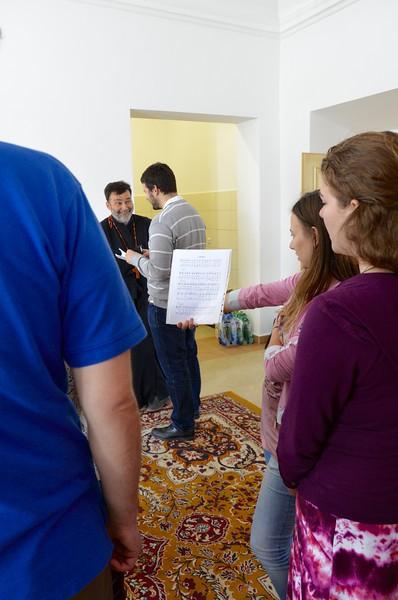 Afternoon choir practice