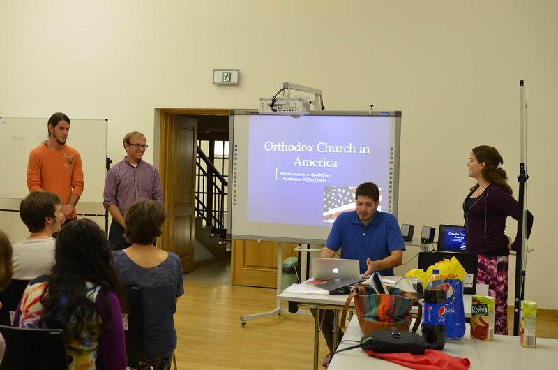 Presentation by the OCA delegation