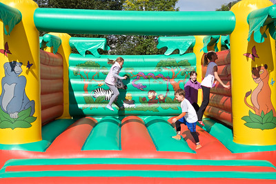 Early Day Fun on the Bouncy Castle