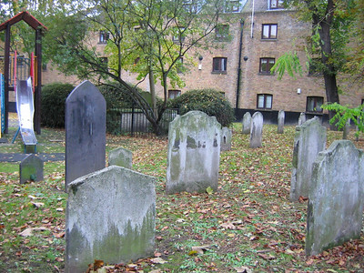 children's playground + graveyard