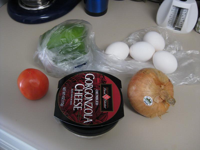 Making Gorgonzola quiche, November 9, 2009