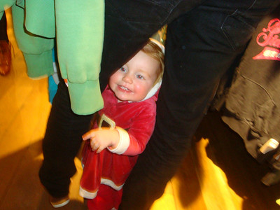 Isla's new game of squeezing through Daddy's legs takes a turn for the worst when it turns out, its not Daddy...
