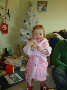 December 27th and we're still opening Isla's presents... Here she is with her bracelet collection.