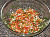 """The finished """"salsa"""", which is really more like pico de gallo. <a href=""""http://pixelscribbles.com/2012/08/my-first-attempt-at-mexican-food/"""">My first attempt at Mexican food</a>, 08/02/2012"""