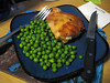 Chicken thigh (grilled on the George Foreman) and peas, 07/07/2012