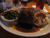 My meat loaf. HUGE. Blue Ribbon Grill with Charles and Heidi, 03/02/2012