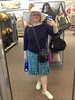 I did not buy this hat. Actually, I came back the next day intending to buy it, and right as I was heading for it, another woman put it on, posed for her friend, then walked off with it in her cart. It wasn't meant to be. Target, 03/15/2012