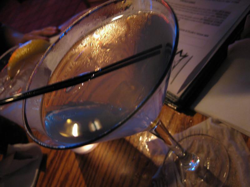 Sean's gummi bear drink. Blue Ribbon Grill with Charles and Heidi, 03/02/2012