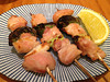Salt yakitori. Dinner at Yakitori Jinbei, 05/01/2012
