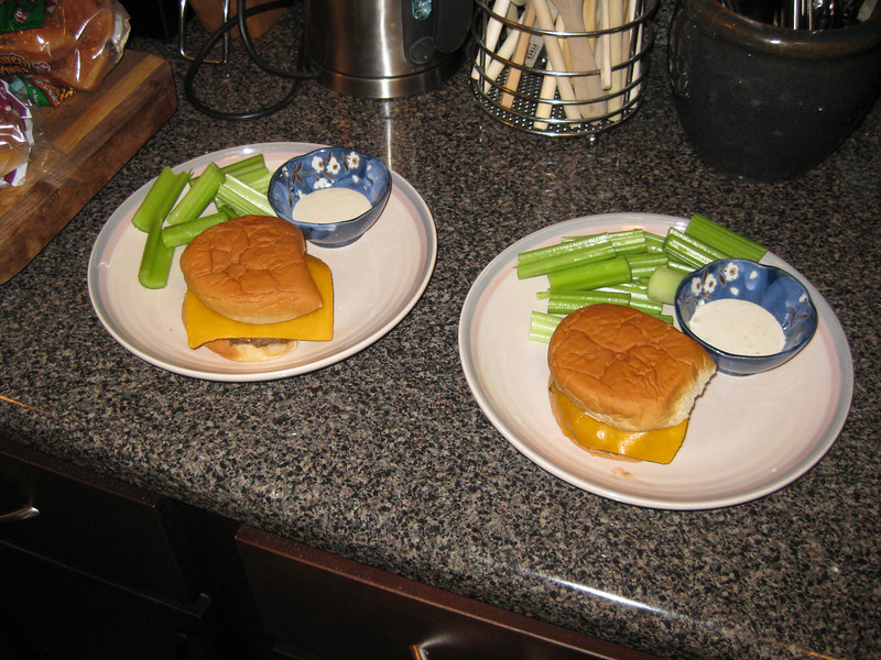 Burgers and celery, 03/01/2013