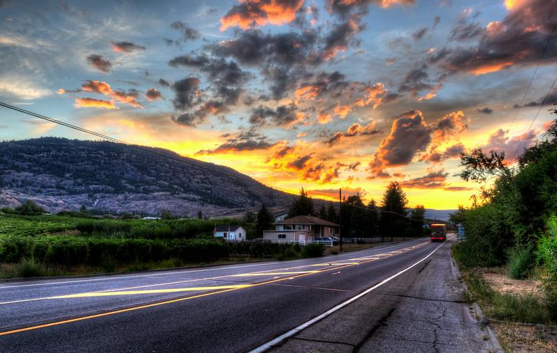 Crazy sunset in the Okanagan