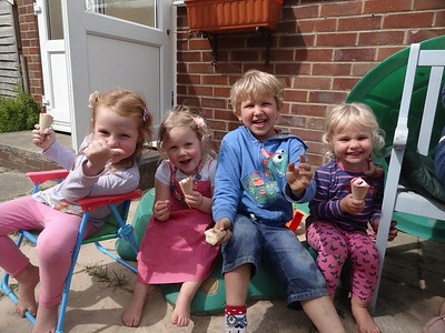 Isla, Harriet, Emmanuel and Coralie