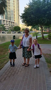 Off to school with Nanny