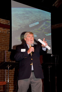 "210 Connect 4/14/2008   Forum topic: ""Pathways to Our Future"" - an opening dialog to envision a better future for Visalia. Paul Hurley welcoming participants to forum and providing vision behind 210 Connect."