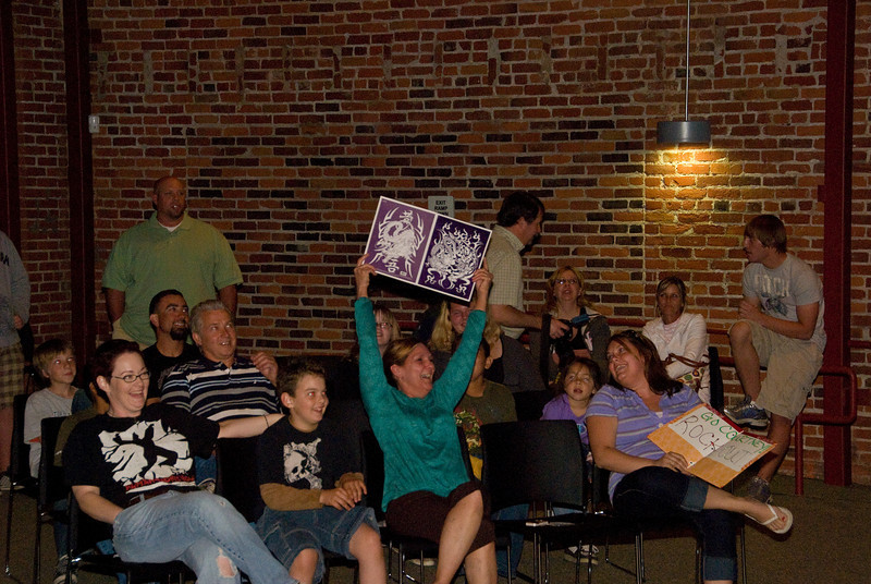 Photos from Guitar Hero contest held at 210 on 4-4-2008<br /> Some contestants had their own cheering section.