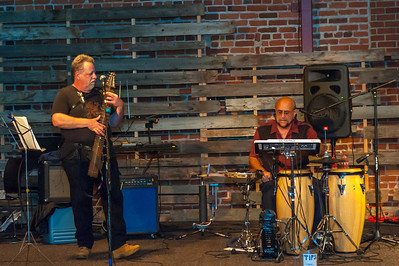 Marble Fork Band playing at 210 Sixth Anniversary Open House 4-11-2014