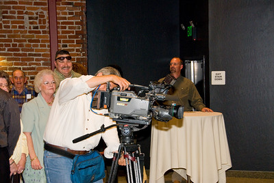 Photos from Community Open House and Ribbon Cutting for 210 4-03-2008. Channel 30 setting up camera for Ribbon Cutting.