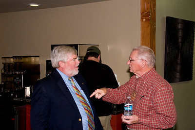Photos from Community Open House and Ribbon Cutting for 210 4-03-2008. Fred making an exciting point with Paul Hurley, Visalia Times delta.