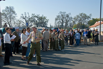 Photos take on 3/11/2008 at the dedication of the Ludekens Service Center Boy Scout Office in Visalia.