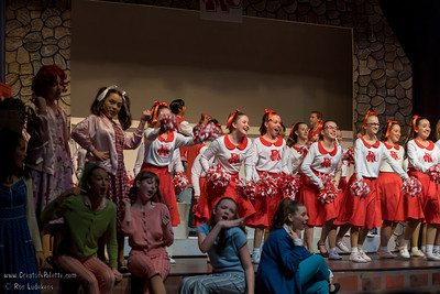 "Photo taken during performance of musical ""Grease"" by Green Acres Middle School 2-10-2017."