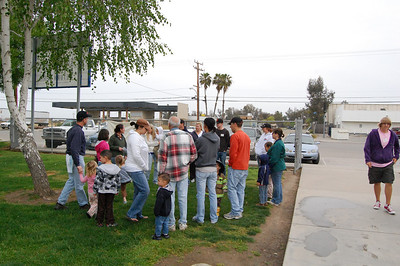 Image from work project at Goshen Elementary School for Serve Visalia Day.  Photo by Alisha LeFaive