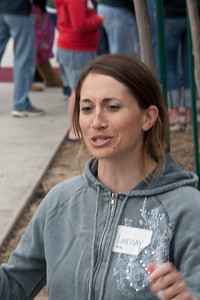 Image from work project at Highland Elementary School for Serve Visalia Day.  Photo by Alec Arnold.
