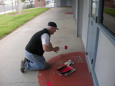 Image from work project at Washington Elementary School for Serve Visalia Day.  Photo by Penny Long.