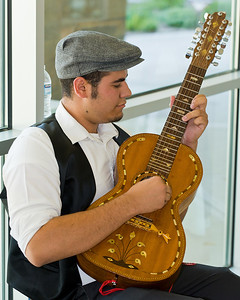 "Special Portuguese 15 string guitar. Image taken at Tulare City Library ""Coffeehouse Jam"" fundraiser for Tulare Read."