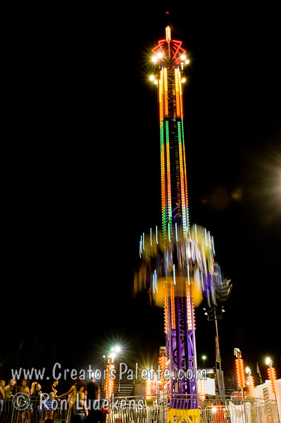 Trying to capture the speed of free fall drop<br /> Image taken at Tulare County Fair 9-17-2010