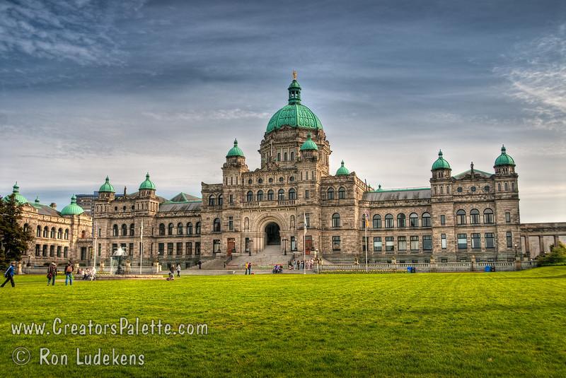 British Columbia's Legislative Buildings in Victoria near the Inner Harbor