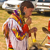 Photo taken at Tule River 2007 Pow Wow on September 22, 2007 at McCarthy Ranch, Porterville, CA.  <br /> Montee - dancer getting prepared