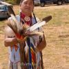 Photo taken at Tule River 2007 Pow Wow on September 22, 2007 at McCarthy Ranch, Porterville, CA. <br /> Darrel - dance explaining his regalia