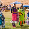 Photo taken at Tule River 2007 Pow Wow on September 22, 2007 at McCarthy Ranch, Porterville, CA.<br /> Introduction of Tule River Pow Wow Princess Contest contestants.<br /> From right: Shy-La Brook Franco, Alicia Lopez Hunter, Valerie Williams, Weliyah Baga.