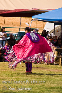 Photo taken at Tule River 2007 Pow Wow on September 22, 2007 at McCarthy Ranch, Porterville, CA. Valerie Williams - contestant in Tule River Pow Wow Princess Contest