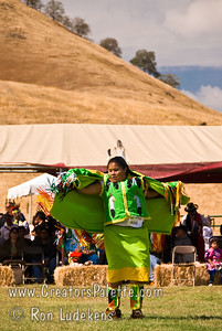 Photo taken at Tule River 2007 Pow Wow on September 22, 2007 at McCarthy Ranch, Porterville, CA. Alicia Lopez Hunter - contestant in Tule River Pow Wow Princess Contest