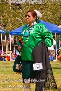 Photo taken at Tule River 2007 Pow Wow on September 22, 2007 at McCarthy Ranch, Porterville, CA. Grand Entrance Parade - Patricia Espinoza - The womans Golden Age.