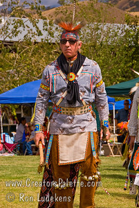 Photo taken at Tule River 2007 Pow Wow on September 22, 2007 at McCarthy Ranch, Porterville, CA. Grand Entrance Parade - Dave Williamson