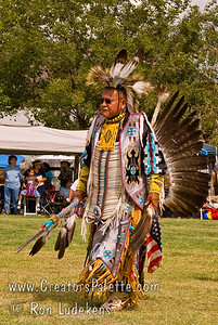 Photo taken at Tule River 2007 Pow Wow on September 22, 2007 at McCarthy Ranch, Porterville, CA. J.T. Gardner.  Golden Age Traditional in Grand Entrance Parade.
