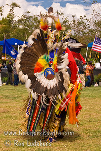 Photo taken at Tule River 2007 Pow Wow on September 22, 2007 at McCarthy Ranch, Porterville, CA. Dancers in Grand Entrance Parade.