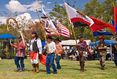 Photo taken at Tule River 2007 Pow Wow on September 22, 2007 at McCarthy Ranch, Porterville, CA. Native Warriors Amvets including Danny Franco, Joe Martinez.
