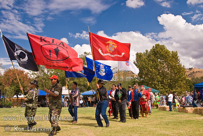 Photo taken at Tule River 2007 Pow Wow on September 22, 2007 at McCarthy Ranch, Porterville, CA. Native Warriors Amvets in Grand Entrance Parade.