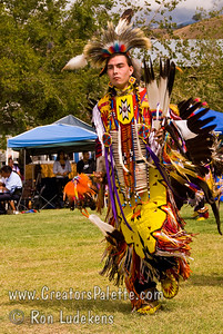 Photo taken at Tule River 2007 Pow Wow on September 22, 2007 at McCarthy Ranch, Porterville, CA.  Dancers (including Montee) in Grand Entrance Parade.