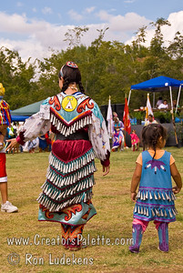 Photo taken at Tule River 2007 Pow Wow on September 22, 2007 at McCarthy Ranch, Porterville, CA.    Jingle Dancers