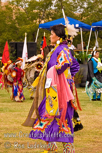 Photo taken at Tule River 2007 Pow Wow on September 22, 2007 at McCarthy Ranch, Porterville, CA.  #244  Judy Red Tomahawk - 2nd place Woman's Northern Traditional.