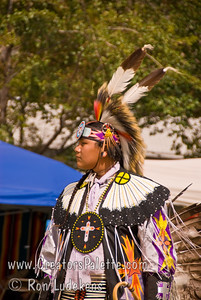Photo taken at Tule River 2007 Pow Wow on September 22, 2007 at McCarthy Ranch, Porterville, CA. Gordon Williams - Head Teen Boy