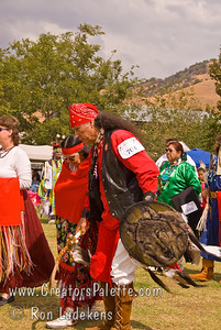 Photo taken at Tule River 2007 Pow Wow on September 22, 2007 at McCarthy Ranch, Porterville, CA. Walking Shoes and wife Talking Wire Erma Pena - Men's Golden Age.