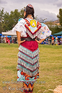 Photo taken at Tule River 2007 Pow Wow on September 22, 2007 at McCarthy Ranch, Porterville, CA.  Jingle Dancer