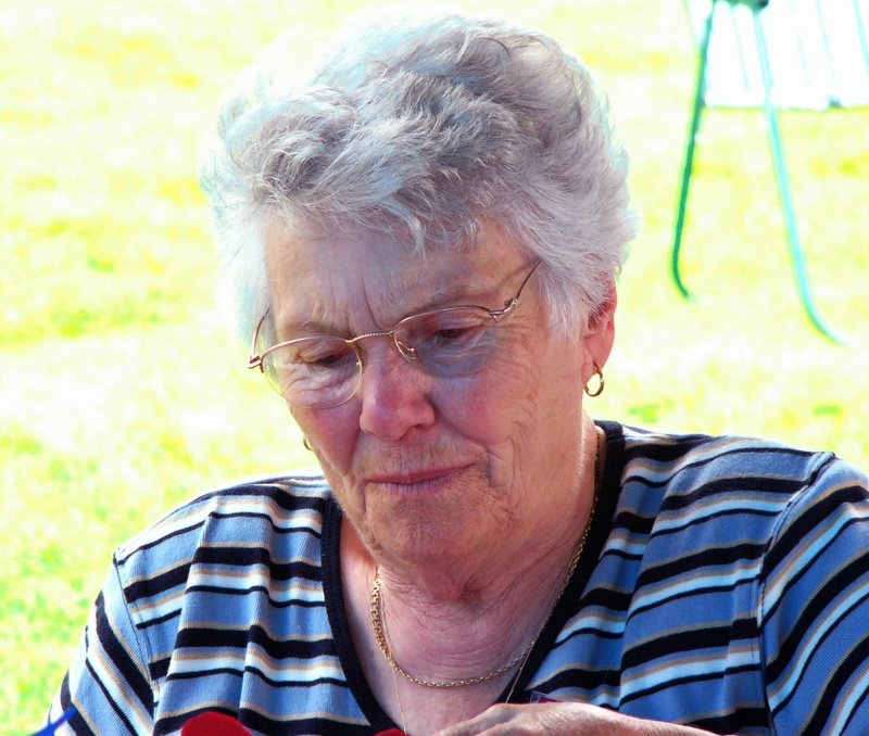 Aunt Alvine at the picnic on Saturday.