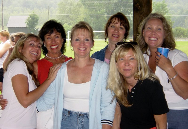 The girls.  Dianne, Nancy, Shirley, Charlene, Gail, and Donna.  All Ouellettes.