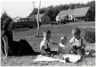 Lucianne, Gerald, Roger, Roland  1954 Vernon, CT